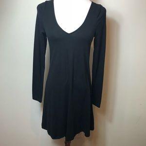 Express black long sleeve skater dress size xs